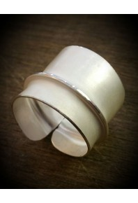Folded Silver Feather Plain Ring