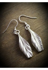 Folded Silver Lily Earrings