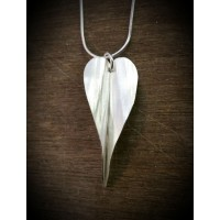 Folded Silver Angel Wings Pendant