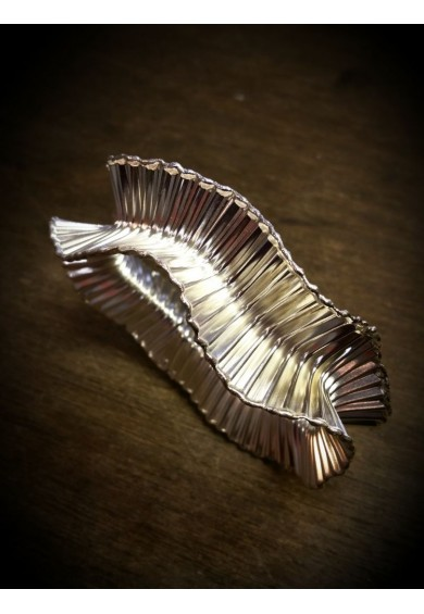Ocean Silver Wave Full Bangle