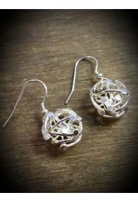 Venus-2 Silver Single Drop Earrings