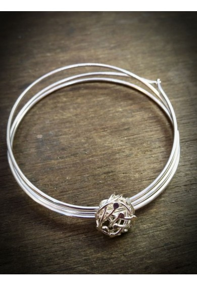 Venus-2 Silver Triple Band Bangle