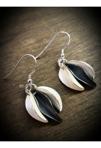 Mini Chilli Silver Triple Earrings- Oxidised
