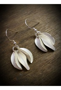 Mini Chilli Silver Triple Earrings