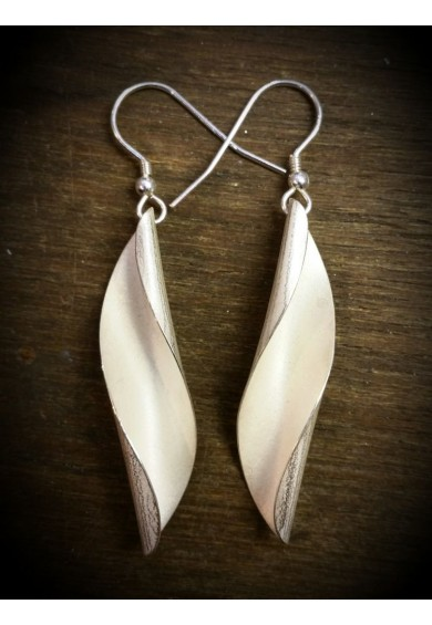 Shell Silver Large Earrings