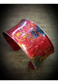 Spring Aluminium Red Cuff Bangle