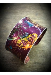 Spring Aluminium Purple Cuff Bangle
