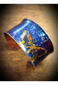 Spring Aluminium Blue Cuff Bangle