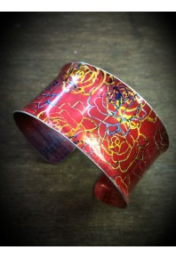 Rose Aluminium Red Cuff Bangle