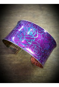 Rose Aluminium Purple Cuff Bangle