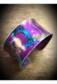 Sweethearts Aluminium Purple Bangle