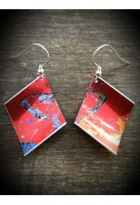 Spring Aluminium Red Earrings