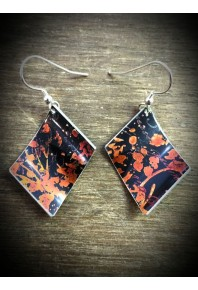 Spring Aluminium Black Earrings