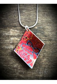 Rose Aluminium Red Pendant