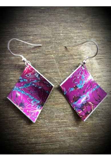 Spring Aluminium Purple Earrings
