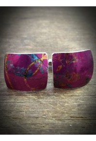 Spring Aluminium Purple Cufflinks