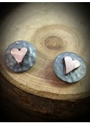 Plannished Hearts with Red Gold Heart (10)