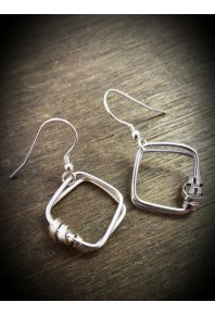 Sator Silver Small Earrings