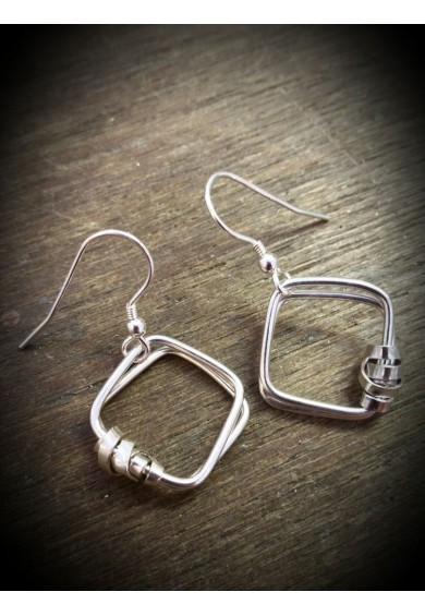 Sator Silver Large Earrings