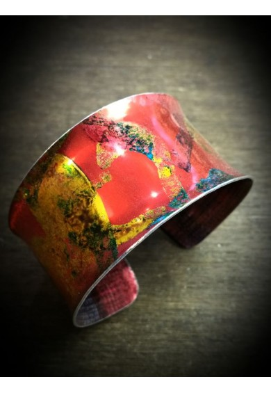 Sweethearts Aluminium Red Bangle