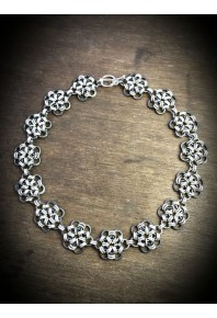 Oxi-Daisy Silver Full Necklace
