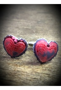 Sweethearts Aluminium Red Cufflinks