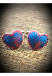 Sweethearts Aluminium Blue Cufflinks