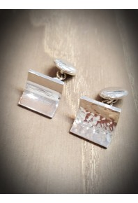 Reflections Silver Plannish Cuff Links