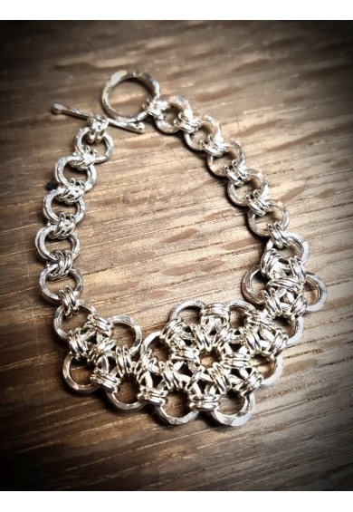 Daisy Silver Bracelet