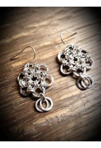 Daisy Silver Drop Earrings