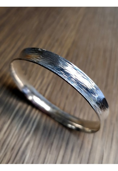 Monet Silver Concave Bangle