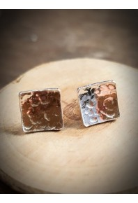 Nexus Silver Square Stud Earrings
