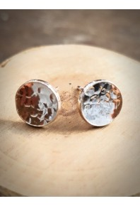 Nexus Silver Circle Stud Earrings