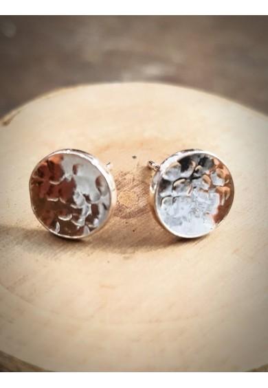 Nexus Silver Circle Stud Earrings
