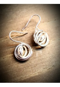 """Q"" Silver Small Drop Earrings"