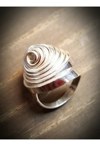 """Q"" Silver Single Ring Heavy"