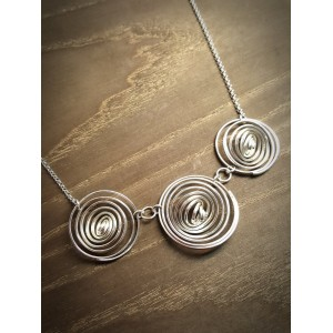"""Q"" Silver 3 Q Necklace"