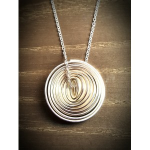 """Q"" Silver Single Large Pendant"