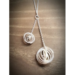 """Q"" Silver 2 Q Pendant with 18"" Silver Chain"