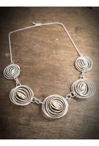"""Q"" Silver 5 Q Necklace"