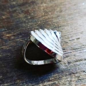 """Q"" Silver Heavy Single Ring"