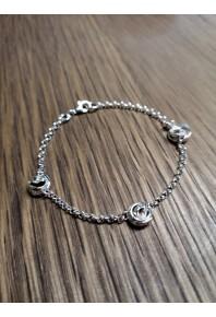 """Q"" Silver 3 Mini Q Bracelet"