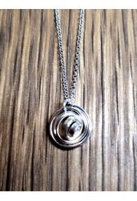 """Q"" Silver Drop Small Single Pendant"