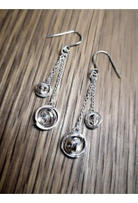 """""""Q"""" Silver Double Drops on Chain"""