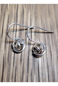 """""""Q"""" 9ct Rose Gold Mini Q Drop Earrings"""
