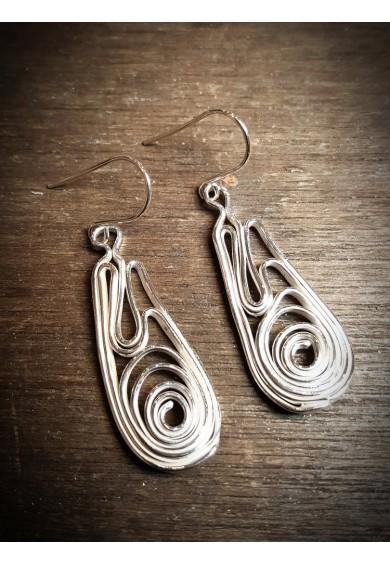 Volu Silver Small Drop Earrings