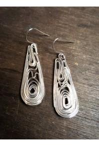 Volu Silver Large Drop Earrings
