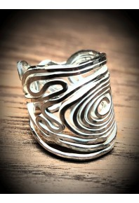 Volu Silver Large Ring
