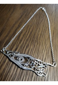 Volu Silver Large Bar Pendant
