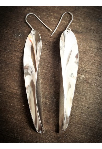 Chilli 17 Silver Single Large Earrings